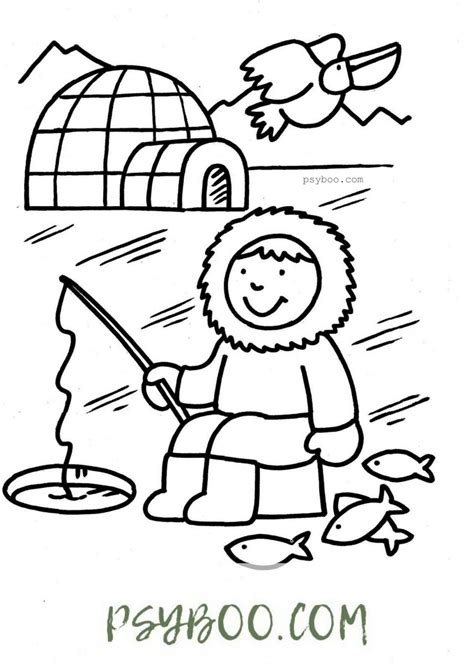 Inuit Coloring Pages