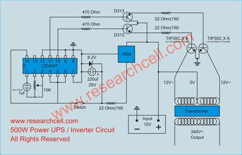 Inverter Circuit Diagram Research Cell