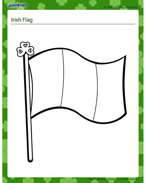 Irish Flag Coloring Page Free Irish Flag Online Coloring