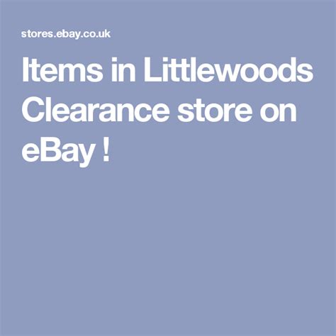 Items in Littlewoods Clearance store on eBay