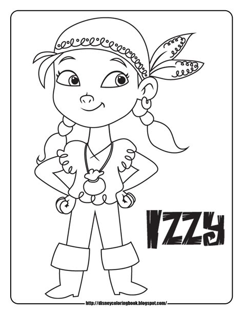 Izzy from Jake and the Never Land Pirates Coloring Pages