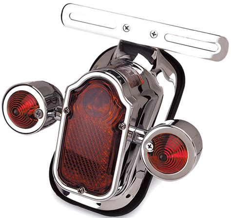 J P Cycles LED Tombstone Taillight with Turn Signals 306