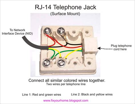 phone cord wire diagram images phone cord wires jack connections for two lines home phone wiring