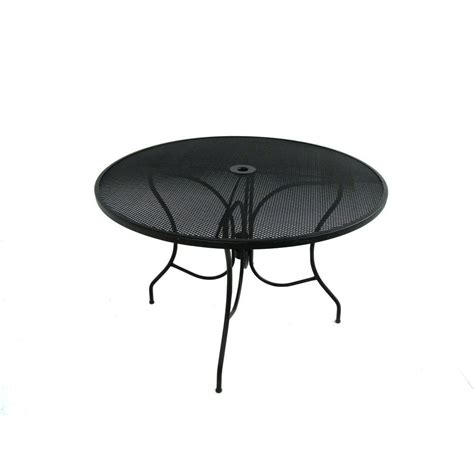 Jackson 44 in Round Patio Dining Table The Home Depot