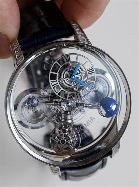 Jacob Co Astronomia Clarity Black Watches Hands On