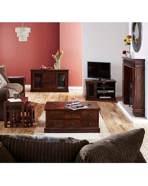Jaipur Solid Sheesham Wood Coffee Table J D Williams