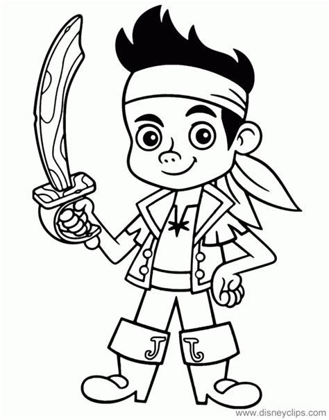 Jake and the Never Land Pirates coloring pages on Coloring