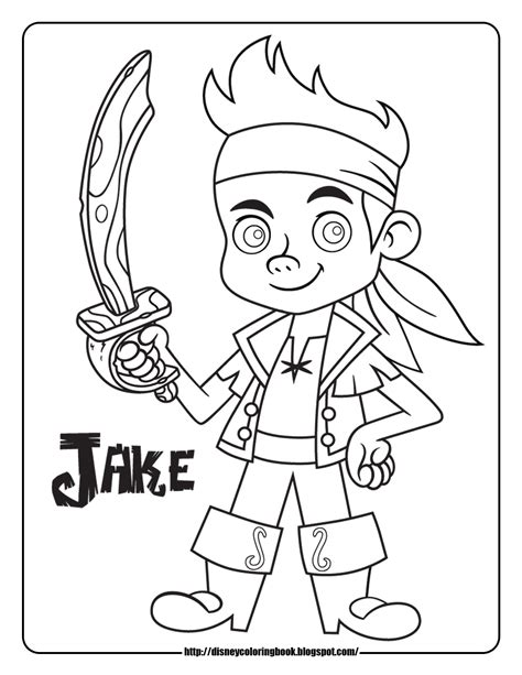 Jake and the Never Land Pirates coloring pages printable games