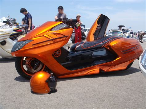 Japanese custom scooters Pink Tentacle