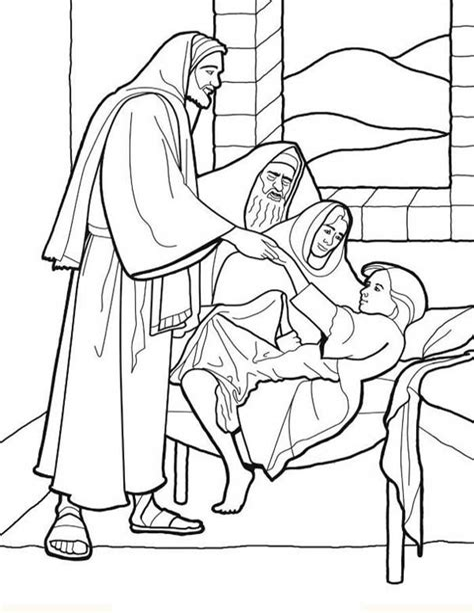 Jesus Healing the Sick coloring page Free Printable