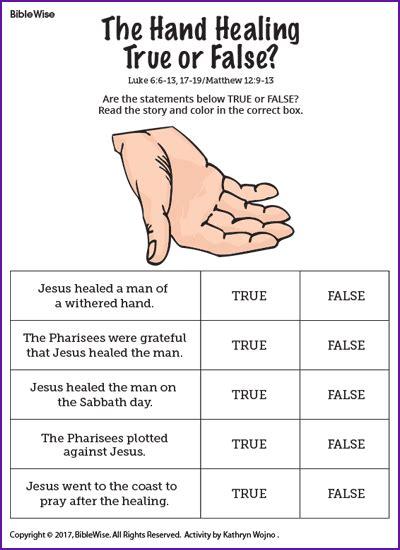 Jesus Healings Character Index Kids Korner BibleWise