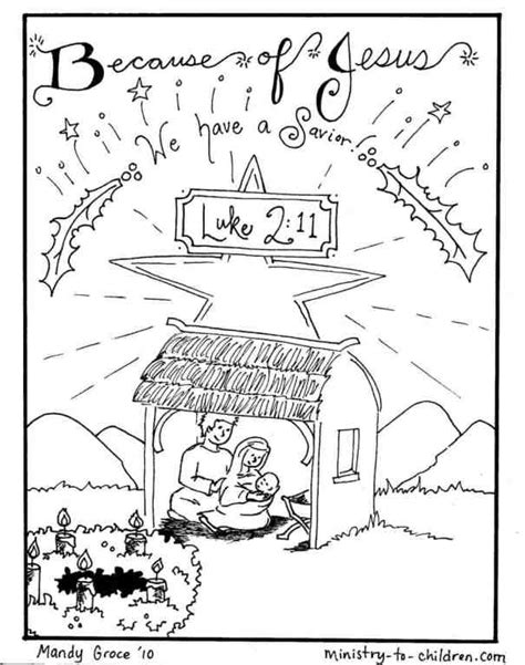 Jesus in Manger Coloring Page MINISTRY TO CHILDREN
