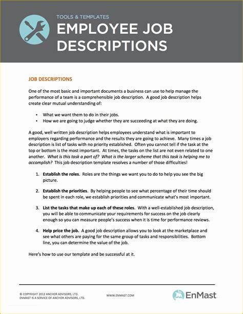 Job Descriptions Job Description Sample Job Descriptions