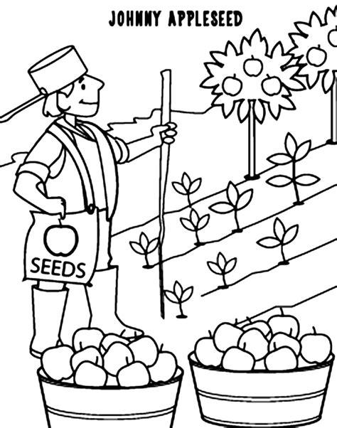 Johnny Appleseed Coloring Pages DLTK Kids
