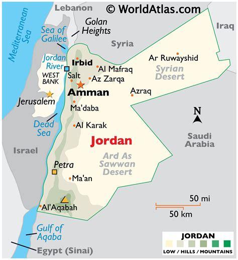 Jordan Map Geography of Jordan Map of Jordan