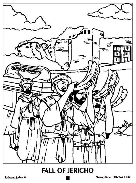 Joshua And The Battle Of Jericho Coloring Page ivison