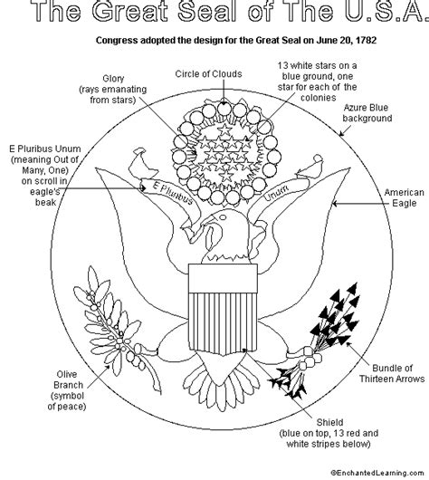 July 4th Activity Book Great Seal printout