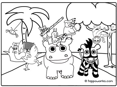 Jungle Animals Online Coloring Pages Page 1