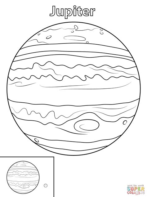 Jupiter Planet coloring page Free Printable Coloring Pages