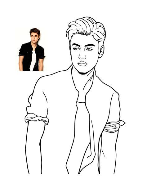 Justin Bieber Coloring Page Online Coloring