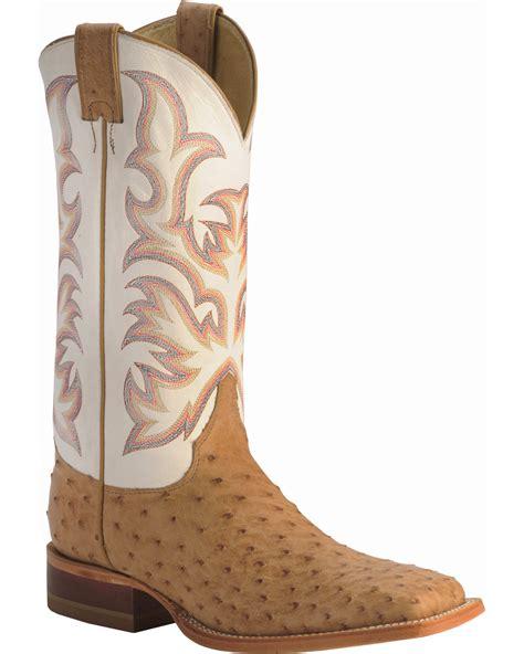 Justin Men s AQHA Remuda Full Quill Ostrich Exotic Boots