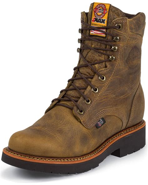 Justin Men s Lace Up Work Boots Boot Barn