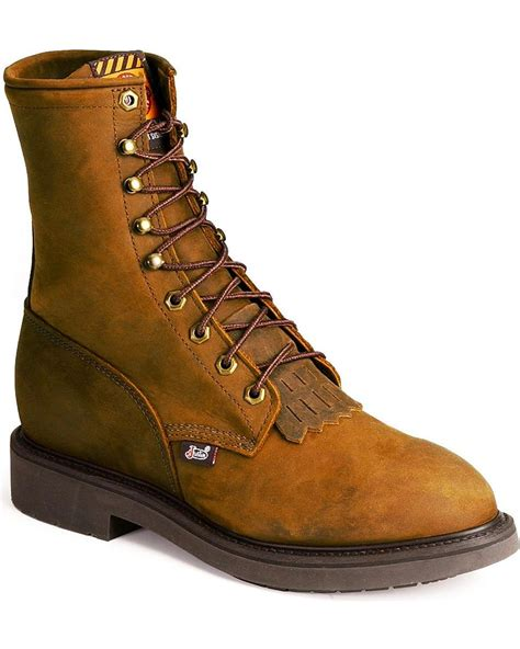 Justin Original Workboots 8 Inch Lace Up Work Boots for Men