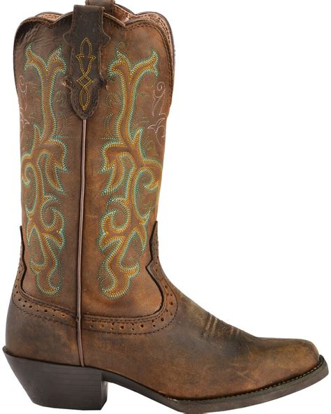 Justin Women s 12 Square Toe Stampede Western Boots