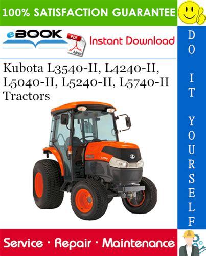 KUBOTA L3540 WORKSHOP MANUAL Pdf Download