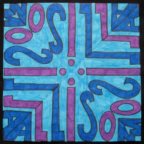 Kaleidoscope Lettering Design TeachKidsArt