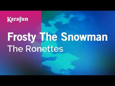 Karaoke Frosty The Snowman The Ronettes YouTube