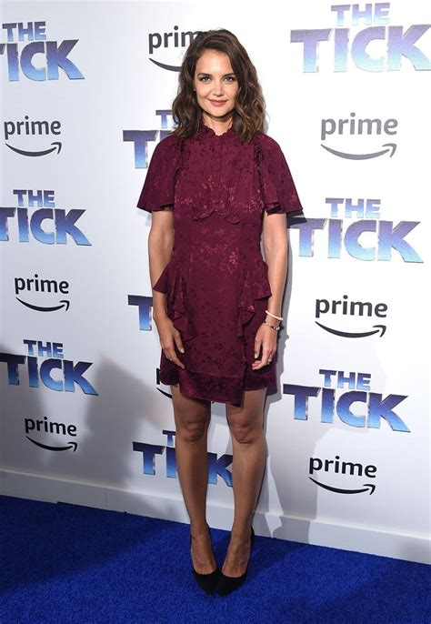 Katie Holmes Looks Perfect in Plum at The Tick Premiere