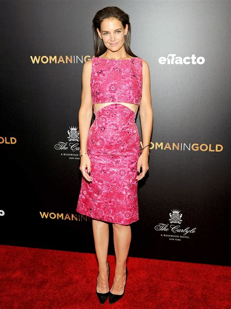 Katie Holmes Stuns in Hot Pink Cutout Dress on Red Carpet