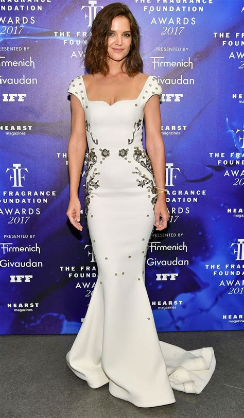 Katie Holmes Wows in White on Red Carpet PEOPLE
