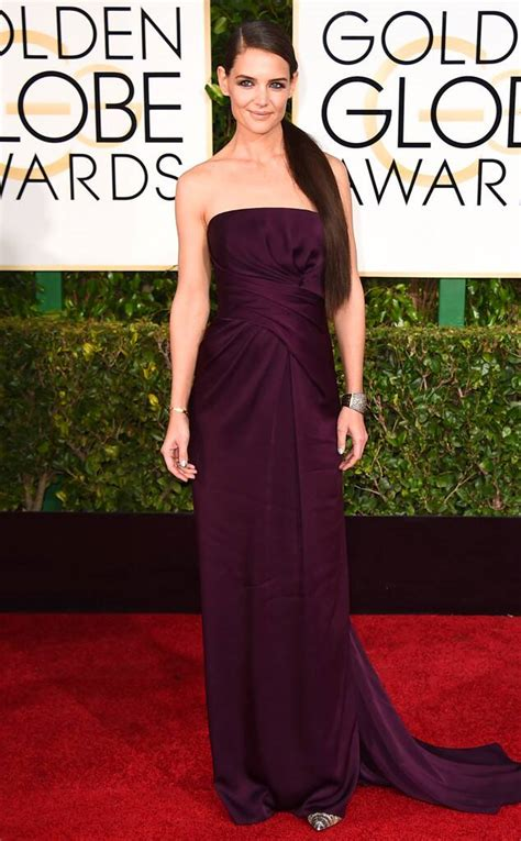 Katie Holmes from 2015 Golden Globes Red Carpet Arrivals