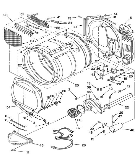 sears kenmore dryer wiring diagram images kenmore dryer parts repair parts sears partsdirect