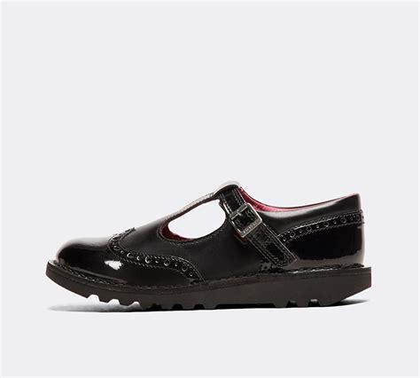Kickers Junior Kick T Brogue Shoe Black Footasylum