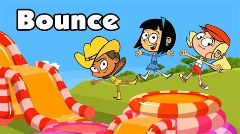 Kid Song BOUNCE funny cartoon children s music video with
