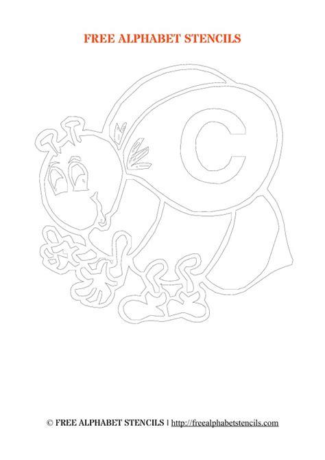 Kids Alphabet Stencils Bees Theme FreeAlphabetStencils