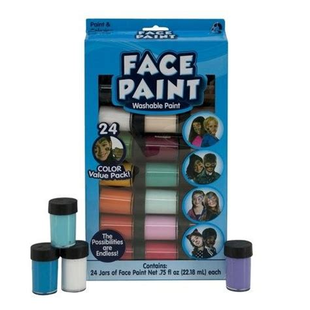 Kids Crafts Face Paint Jars 24pk by Horizon Group USA