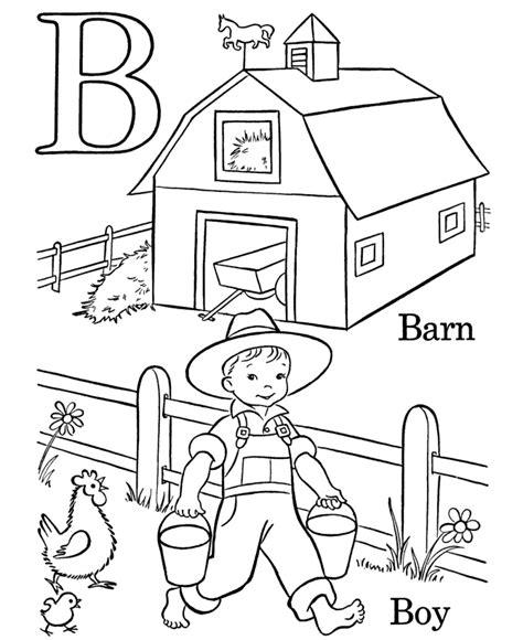 Kids Farm Alphabet Coloring Pages ABC Activity Pages