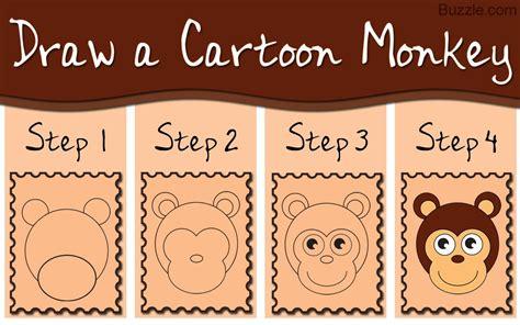 Kids Go Ape Step by step Instructions to Draw a Cartoon