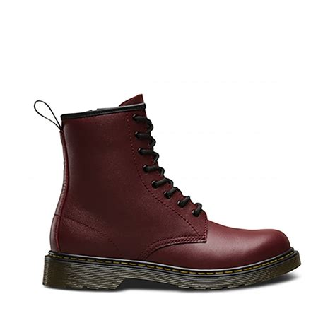 Kids Red Dr Martens Delaney Youth Boots schuh