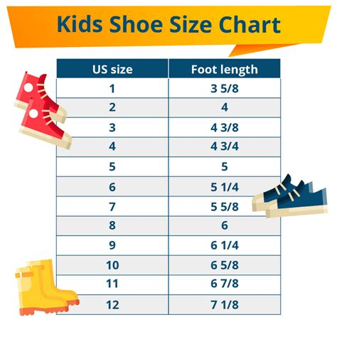 Kids Shoe Sizing Guide with Sizing Chart Shopping