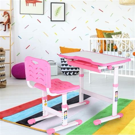 Kids Study Table Chair Sets Walmart