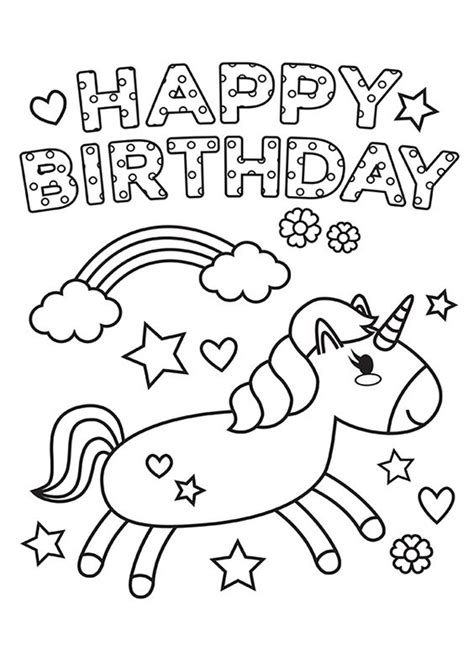 Kids coloring birthday card free printable coloring cards