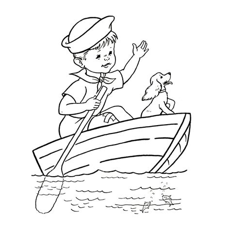 Kids coloring pages Sail Boats