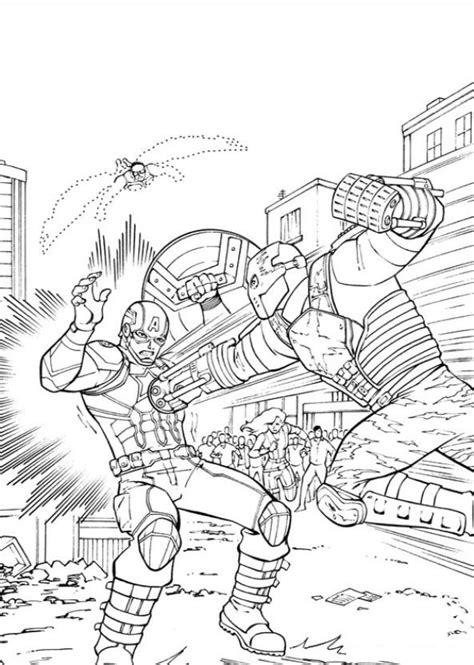 Kids n Fun 16 coloring pages of Captain America Civil War