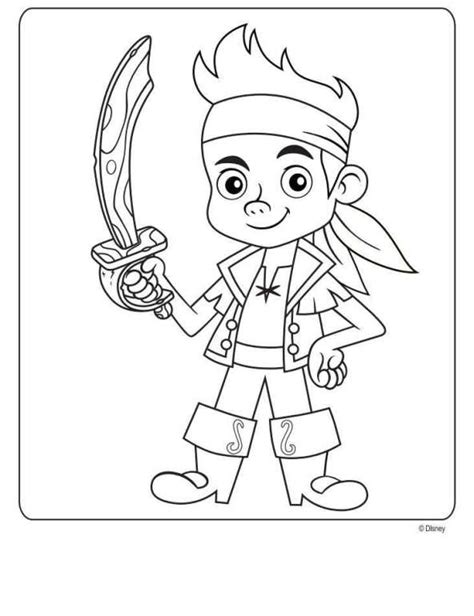 Kids n Fun 9 coloring pages of Jake and the Never Land