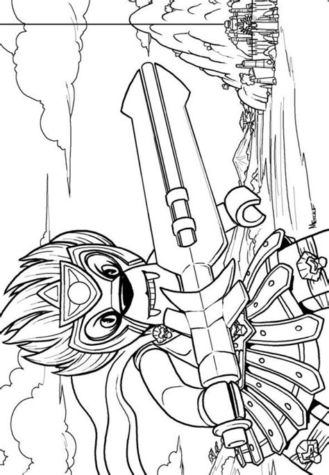 Kids n fun 15 coloring pages of Lego Chima